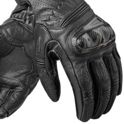 Motorcycle Gloves Leather REVIT Chevron 2 Woman Black, Racing gloves