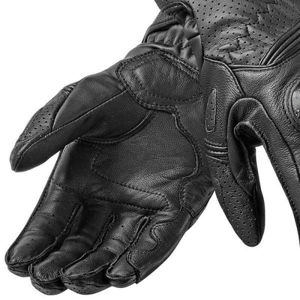 Guantes de cuero moto REVIT Chevron 2 Mujer Negro