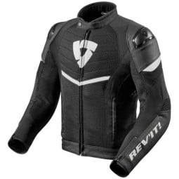 Motorcycle Jacket REVIT Mantis Black White