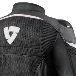 Chaqueta Moto REVIT Mantis Negro Blanco