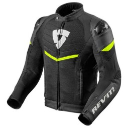 Giubbotto Moto REVIT Mantis Nero Giallo Fluo, Giubbotti e Giacche Tessuto Moto