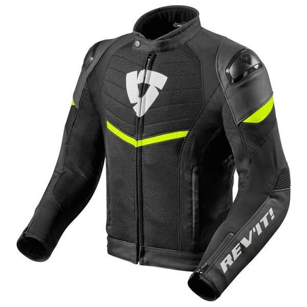Chaqueta Moto REV'IT Mantis Negro Amarillo Fluor