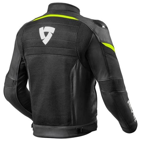 Chaqueta Moto REV'IT Mantis Negro Amarillo Fluor