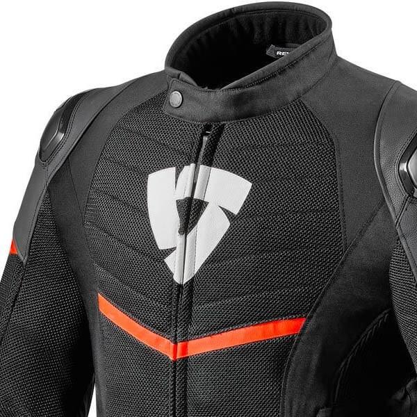 Chaqueta Moto REVIT Mantis Negro Rojo