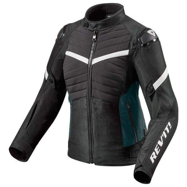Chaqueta Moto REVIT Arc H2O Mujer Negro Blanco