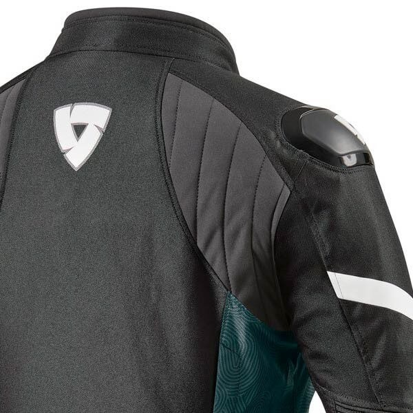 Blouson Moto REVIT Arc H2O Femme Noir Blanc