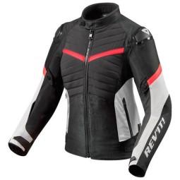 Blouson Moto REVIT Arc H2O Femme Noir Rouge ,Blousons et Vestes Moto Tissu