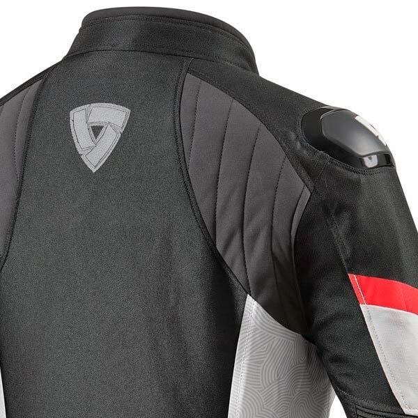 Blouson Moto REVIT Arc H2O Femme Noir Rouge