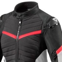 Chaqueta Moto REVIT Arc H2O Mujer Negro Rojo