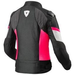 Chaqueta Moto REVIT Arc H2O Mujer Negro Fucsia ,Chaquetas Moto Tela