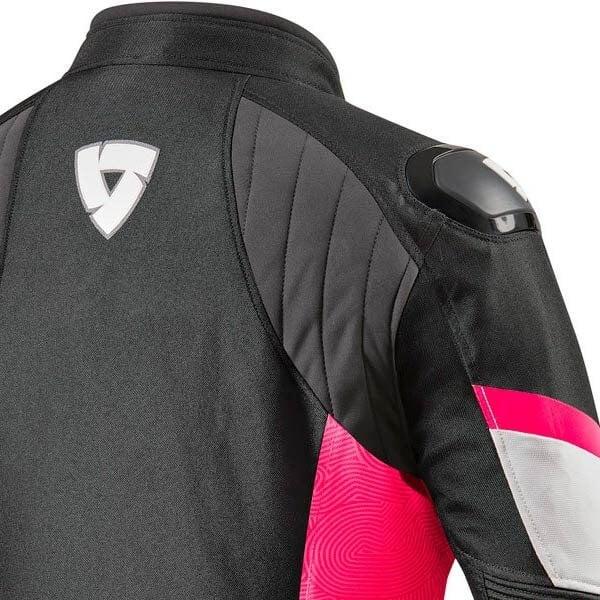 Blouson Moto REVIT Arc H2O Femme Noir Fucsia