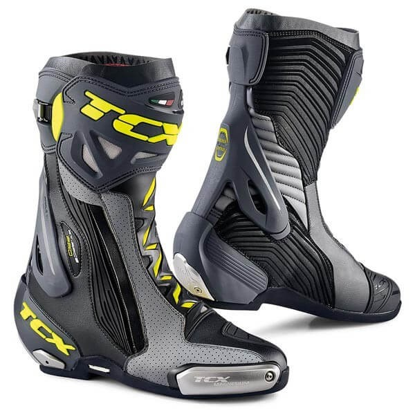 Motorcycle Boots TCX RT-Race Pro Air Grey Fluo