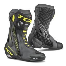 Motorcycle Boot TCX RT-Race Black Yellow ,Motorcycle Racing Boots