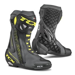 Motorcycle Boots TCX RT-Race Black Yellow ,Motorcycle Racing Boots