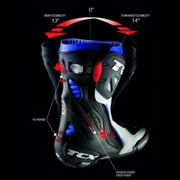 Motorcycle Boots TCX RT-Race White ,Motorcycle Racing Boots
