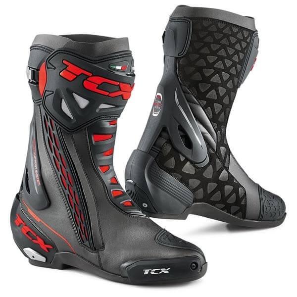 aspetto dettagliato 97684 9bb87 Stivali Moto TCX RT-Race Black Red