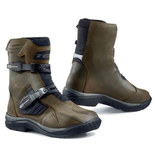 Stivali Enduro TCX Baja Mid Waterproof Brown, Stivali Moto Adventure / OffRoad