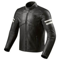 Giubbotto Moto Pelle REVIT Prometheus Nero Bianco, Giubbotti e Giacche Pelle Moto