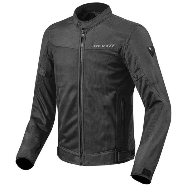 Motorcycle Fabric Jacket REVIT Eclipse Black