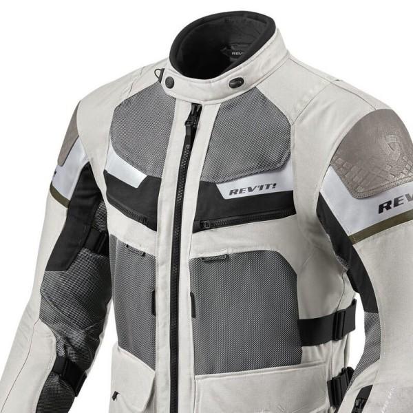 Motorrad Jacke REVIT Cayenne Pro Grau Grun