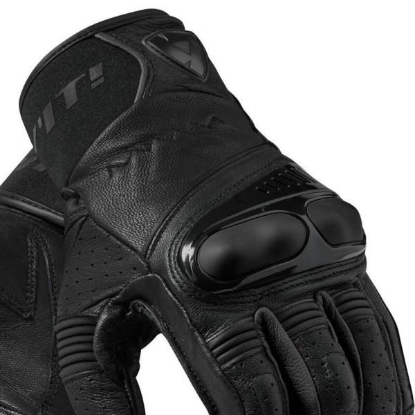 Motorcycle Gloves Leather REVIT Hyperion Black