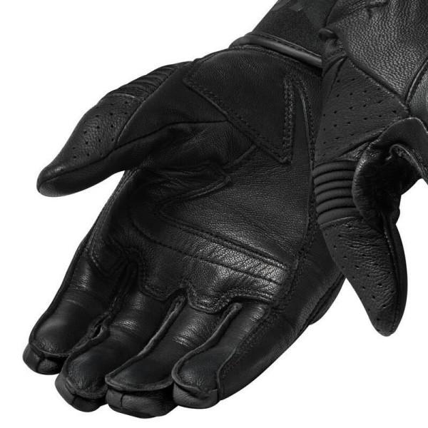 Guantes de cuero moto REVIT Hyperion Negro