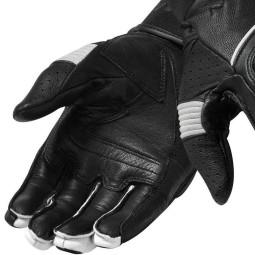 Guantes de cuero moto REVIT Hyperion Negro Blanco