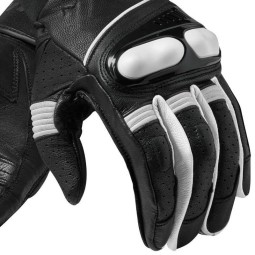 Guanti Moto Pelle REVIT Hyperion Nero Bianco, Guanti Moto Pelle