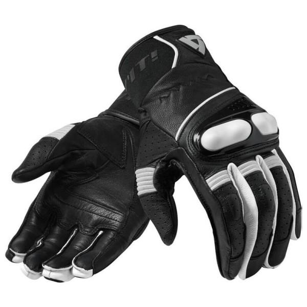 Motorcycle Gloves Leather REVIT Hyperion Black White