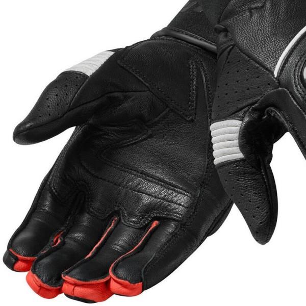Guantes de cuero moto REVIT Hyperion Negro Rojo