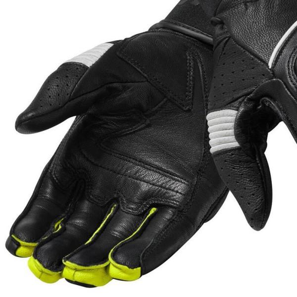 Gants moto en cuir REVIT Hyperion Noir Jaune Fluo