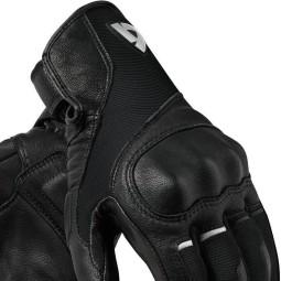 Motorradhandschuhe Leder REVIT Titan Schwarz