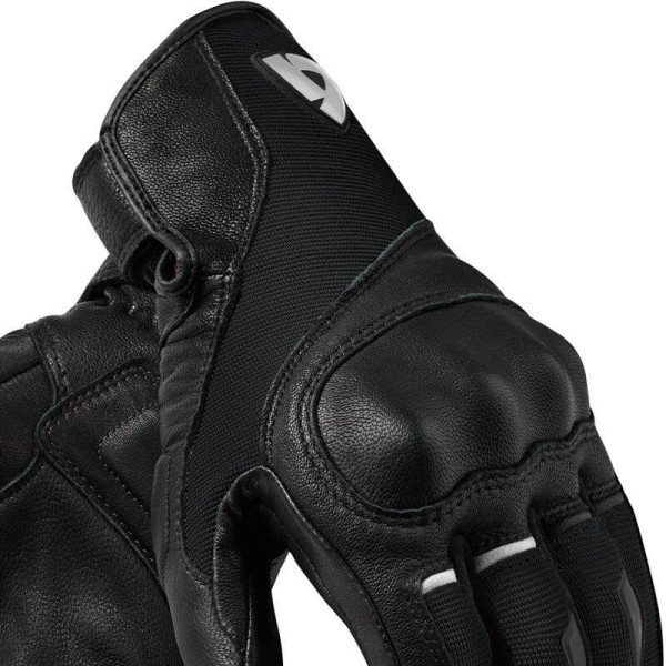 Motorcycle Gloves Leather REVIT Titan Black