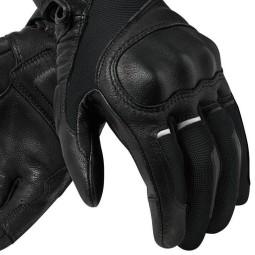 Gants moto en cuir REVIT Titan Noir