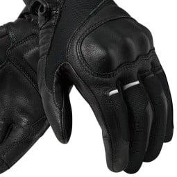 Motorcycle Gloves Leather REVIT Titan Black, Motorcycle Gloves