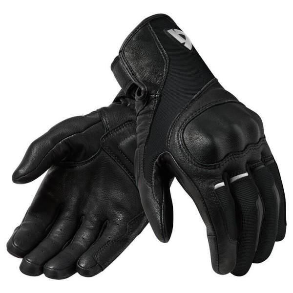 Guantes de cuero moto REVIT Titan Negro