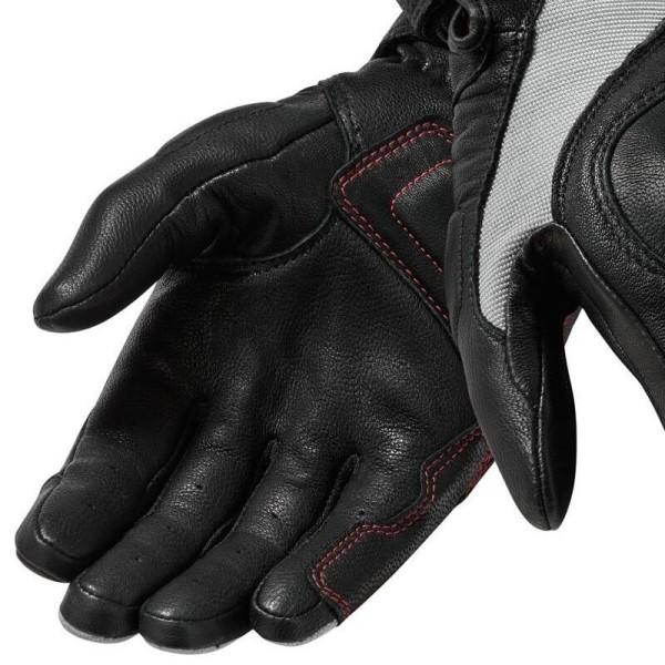 Guantes de cuero moto REVIT Titan Negro Blanco