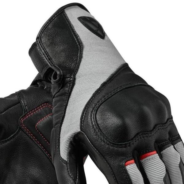 Motorcycle Gloves Leather REVIT Titan Black White