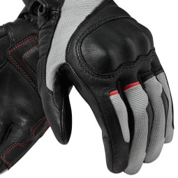 Motorcycle Gloves Leather REVIT Titan Black White ,Motorcycle Leather Gloves
