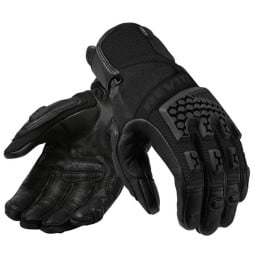 Motorrad-Handschuhe REVIT Sand 3 Frau Schwarz ,Motorrad Textilhandschuhe