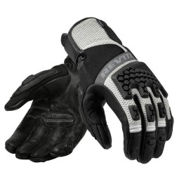 Motorrad-Handschuhe REVIT Sand 3 Frau Schwarz Silber ,Motorrad Textilhandschuhe