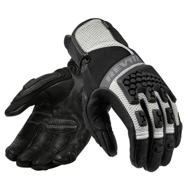 Motorrad-Handschuhe REVIT Sand 3 Frau Schwarz Silber