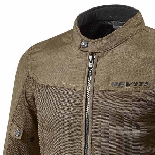 Motorcycle Fabric Jacket REVIT Eclipse Brown