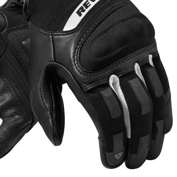 Guantes Moto REVIT Striker 3 Negro Blanco