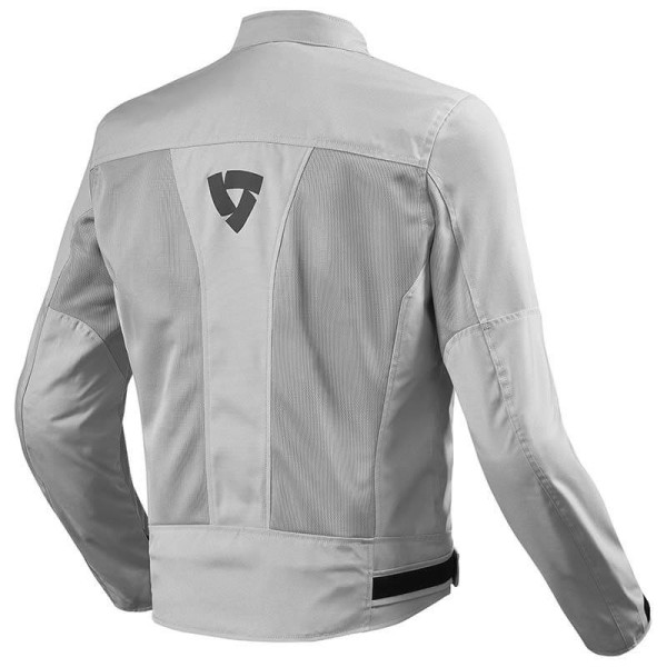 Motorcycle Fabric Jacket REVIT Eclipse Silver