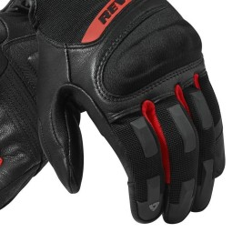 Gants Moto REVIT Striker 3 Noir Rouge ,Gants Moto Cuir