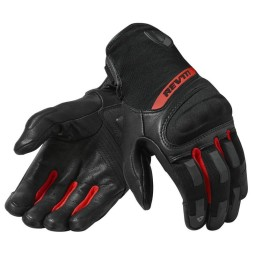 Motorcycle Gloves REVIT Striker 3 Black Red ,Motorcycle Leather Gloves