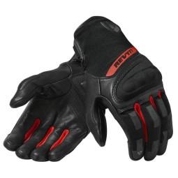 Motorradhandschuhe REVIT Striker 3 Schwarz Rot ,Motorrad Lederhandschuhe