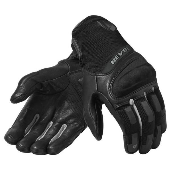 Motorradhandschuhe REVIT Striker 3 Schwarz Silber