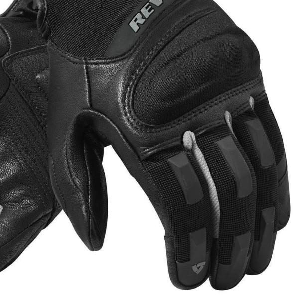 Motorcycle Gloves REVIT Striker 3 Black Silver